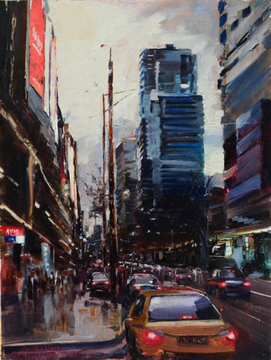 Evening Falls - Spencer Street